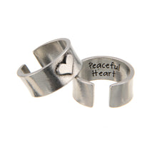 """Hearts of Gold"" PEACEFUL HEART Ring"