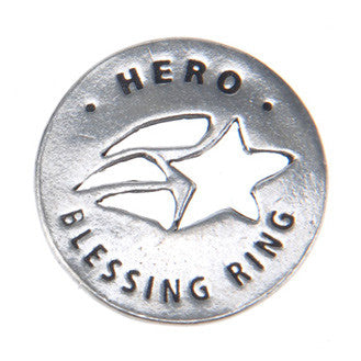 Hero Blessing Ring (on back - you are my hero) - Whitney Howard Designs