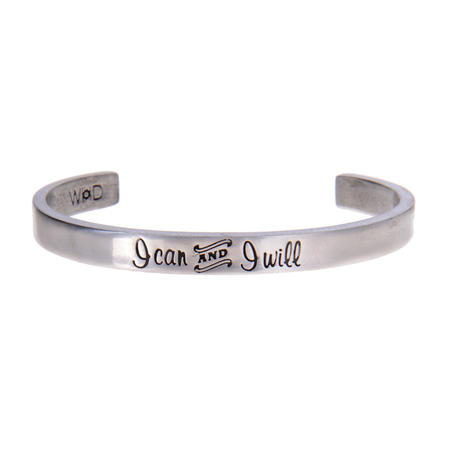 I Can and I Will Quotable Cuff Bracelet