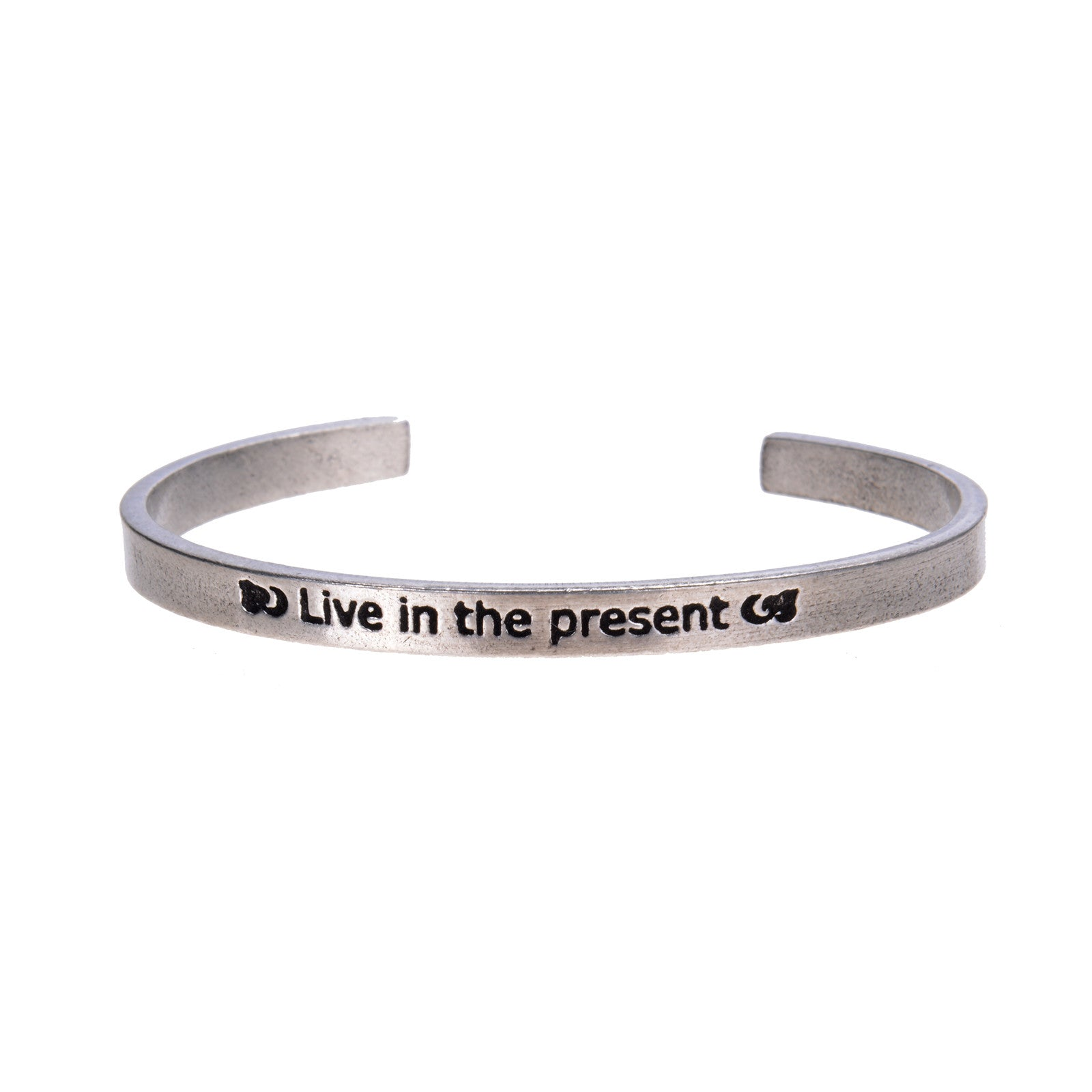 Live In The Present Quotable Cuff Bracelet - Whitney Howard Designs