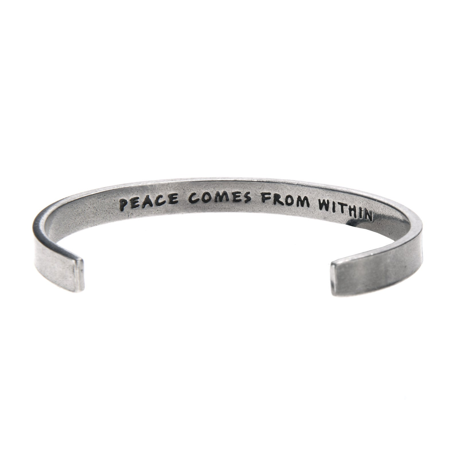 Peace Comes From Within Quotable Cuff Bracelet - Whitney Howard Designs