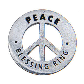 Peace Blessing Ring (on back - peace peace peace)