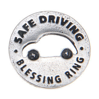 Safe Driving Blessing Ring (on back - be cautious and aware, drive with care) - Whitney Howard Designs
