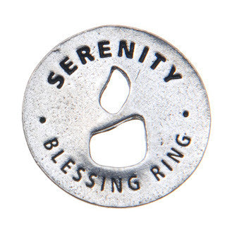 Serenity Blessing Ring (on back - Peace of Mind) - Whitney Howard Designs