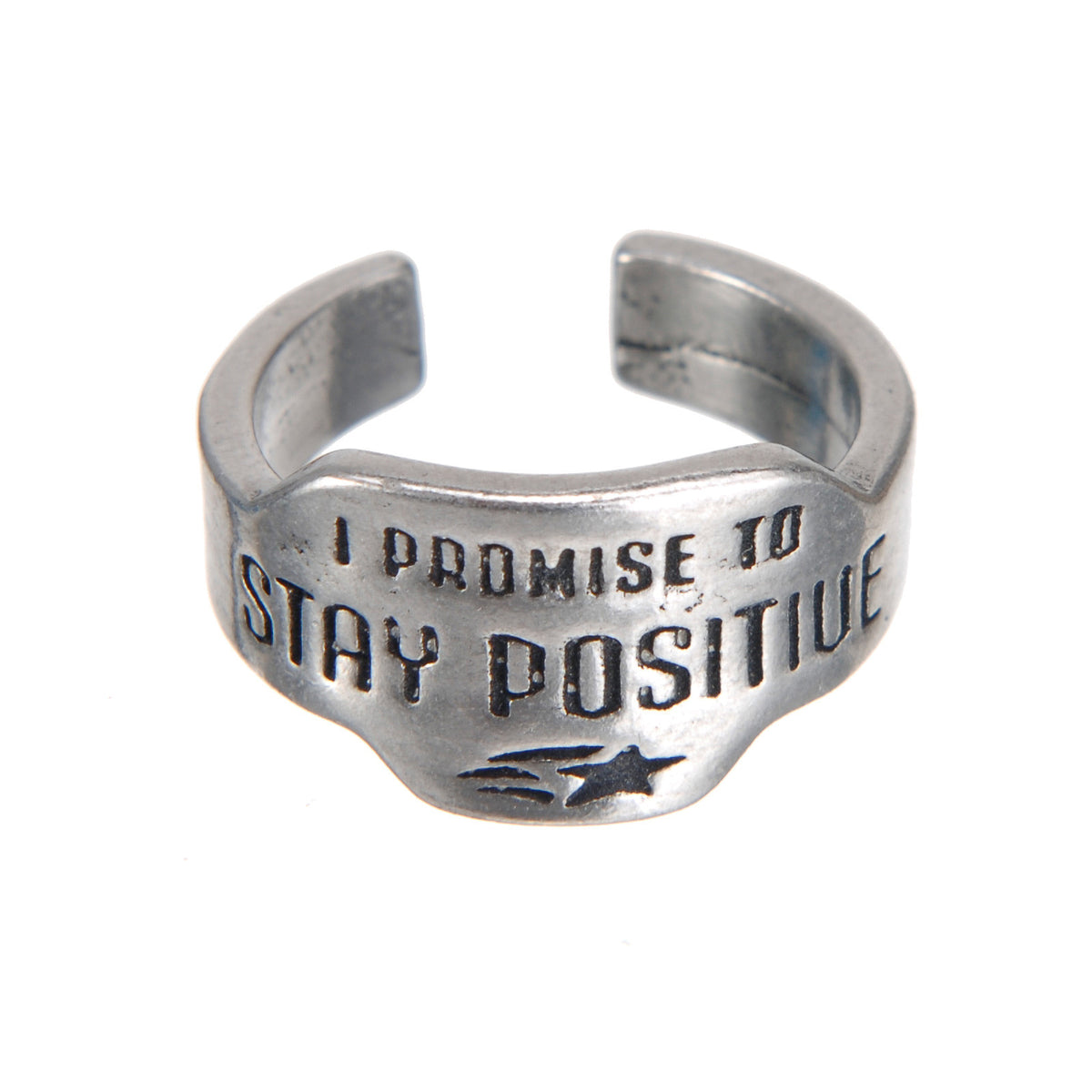 Stay Positive Promise Ring - Whitney Howard Designs