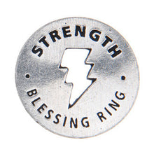 Strength Blessing Ring (on back - never give up, reach within yourself) - Whitney Howard Designs