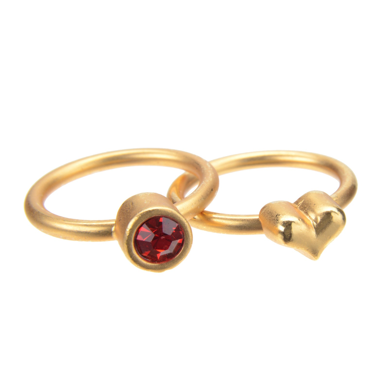 July Ruby Birthstone Ring Set - Whitney Howard Designs