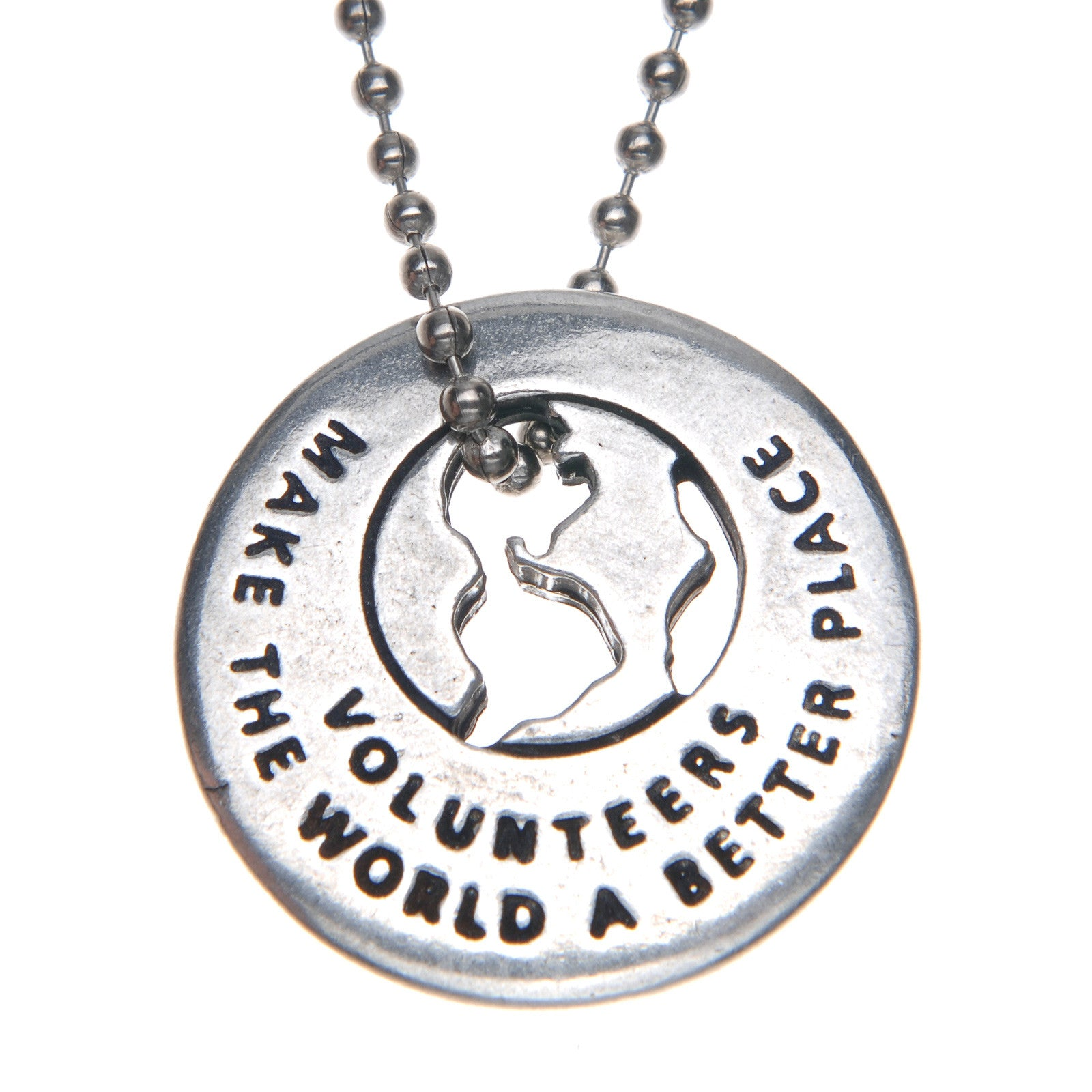 Volunteers Make The World A Better Place Ring On Ballchain - Whitney Howard Designs