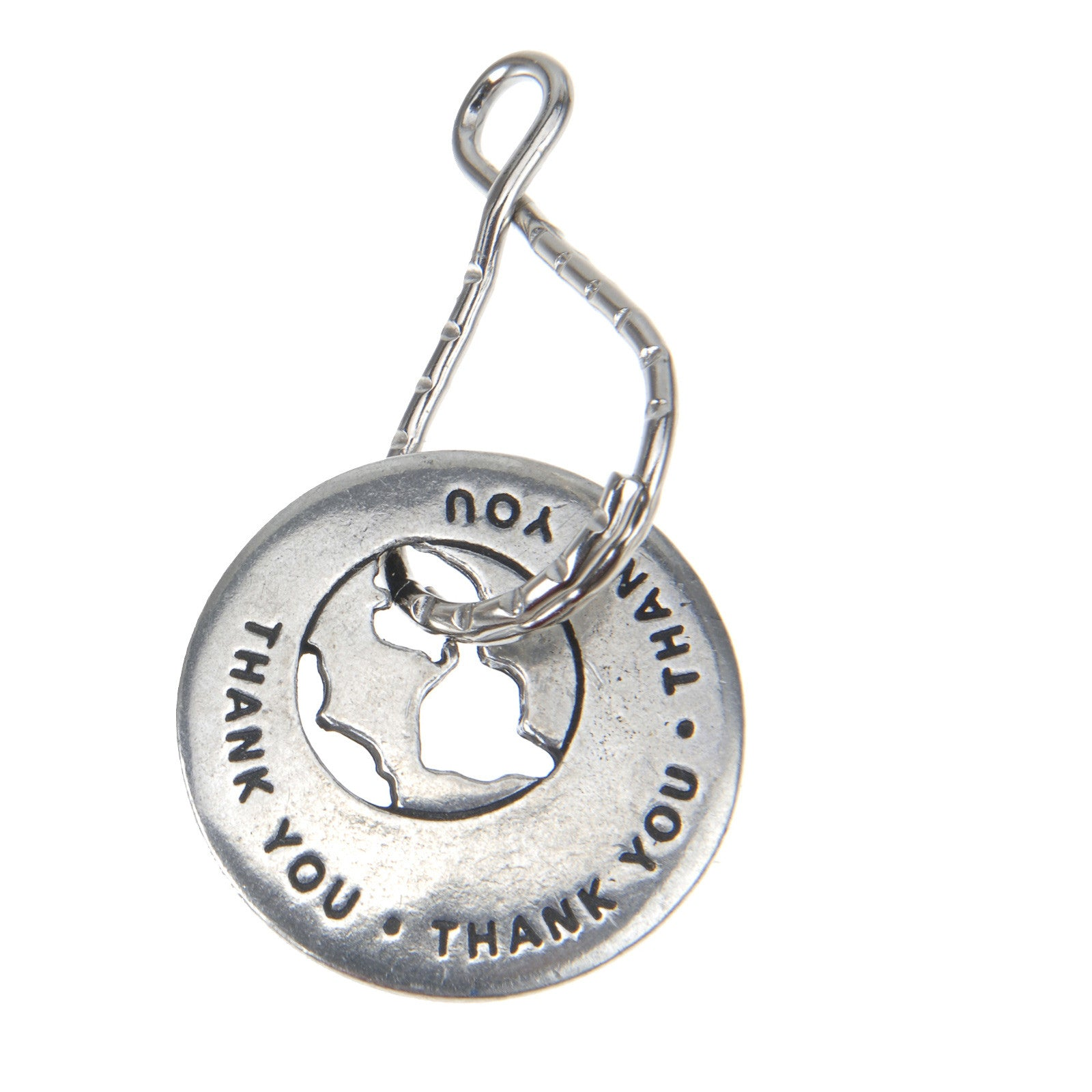 Volunteers Make The World A Better Place Volunteer Ring on Keyring