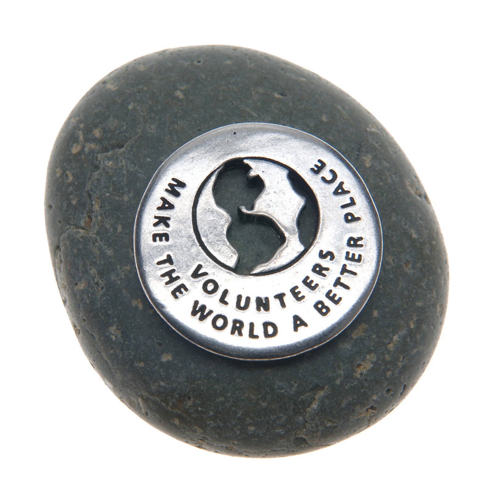 Volunteers Make The World A Better Place Volunteer Rock - Whitney Howard Designs