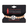 Walking Strong Bracelet - Large Blonde Wood Beads