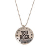 You Rock Medallion on Ball Chain Necklace - Whitney Howard Designs