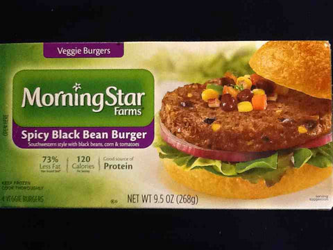 Morning Star Farm Spicy Black Bean Burger