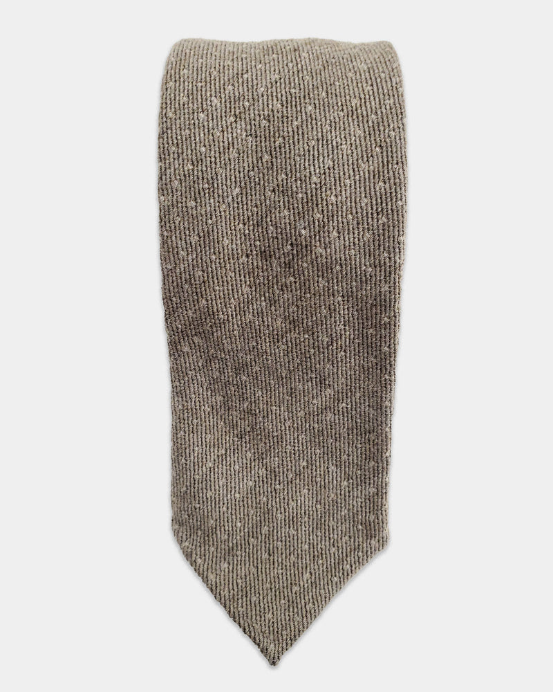 Light brown flannel with beige dots tie (Sale)