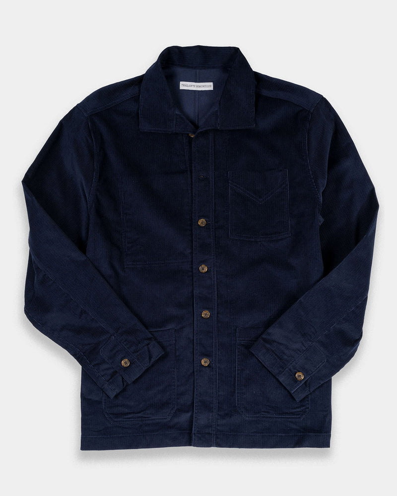 French Workers Jacket Navy Cord