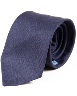 Navy Herringbone Tie (Sale)