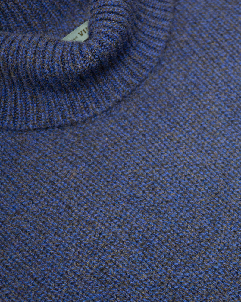 Cobalt Melange Turtleneck Sweater