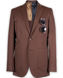 Robert Single-Breasted Walnut Brown Jacket