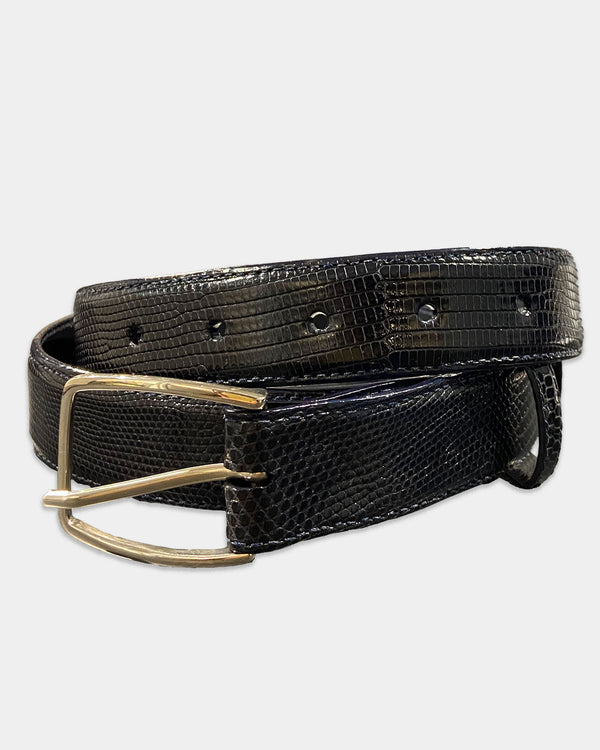 Navy Lizard Belt Strap
