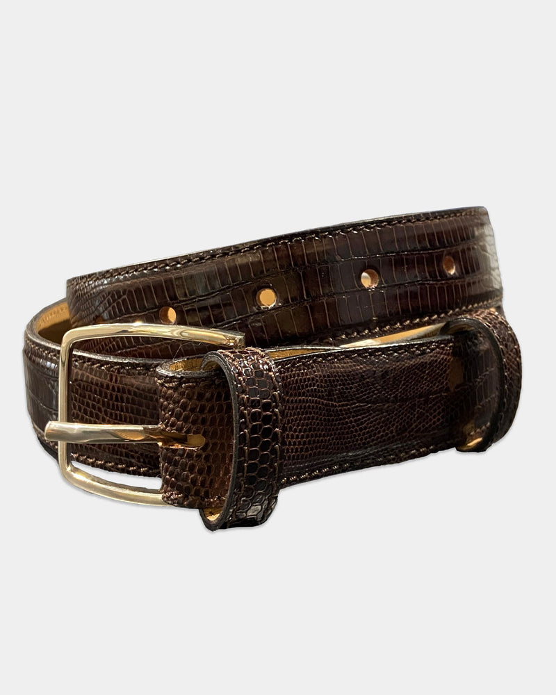 Brown Lizard Belt Strap