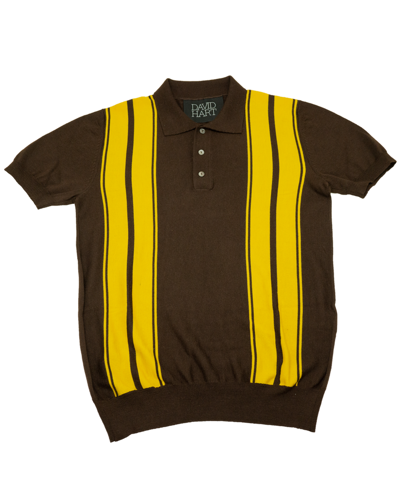 Brown Stripe Polo (Sale)