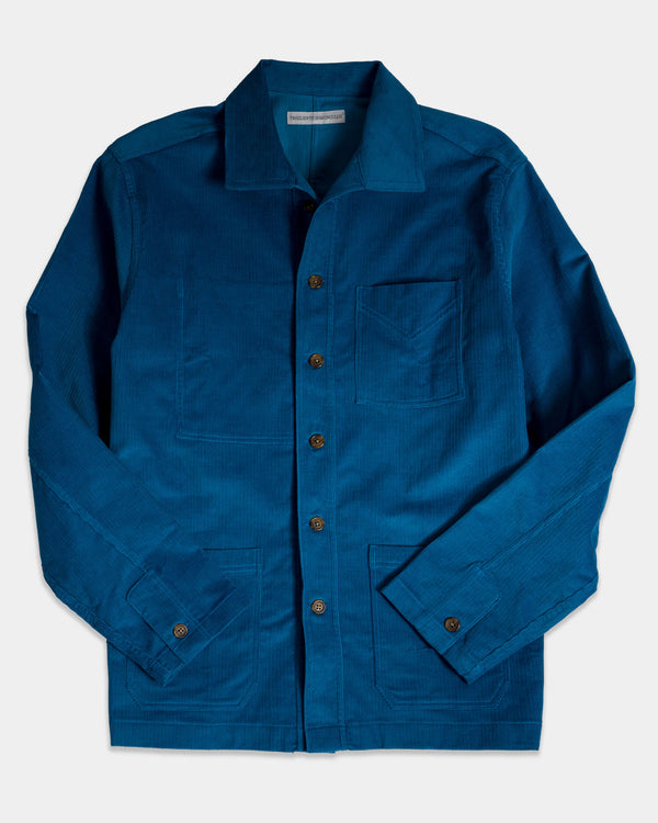 French Workers Jacket Airforce Blue Cord