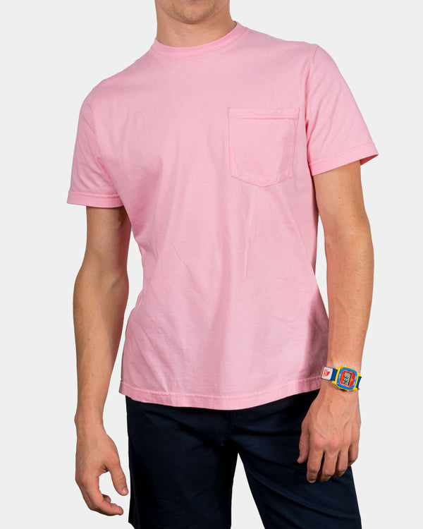 Almond Blossom Pink Short Sleeve T-shirt front model