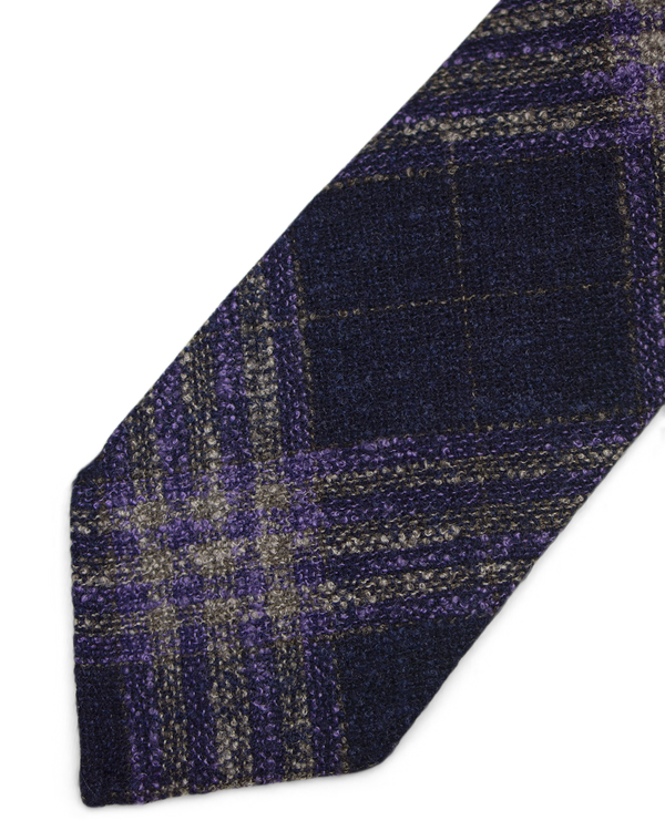 Purple plaid Tie
