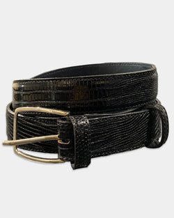 Black Lizard Belt Strap