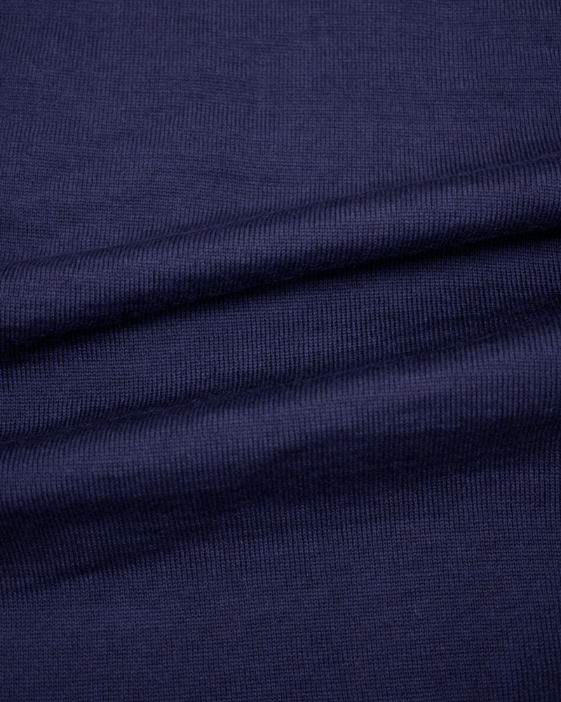Navy Jacquard Polo