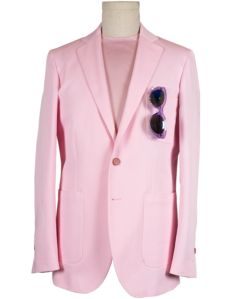 Robert Single-Breasted Peachy Pink Jacket (Sale)