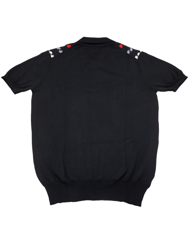 Black Jacquard Polo