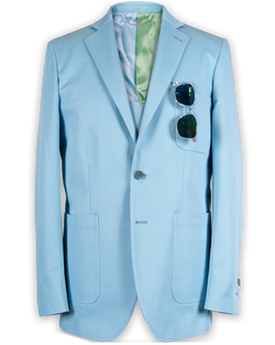 Robert Single-Breasted Eiffel 65 Blue Jacket (Sale)