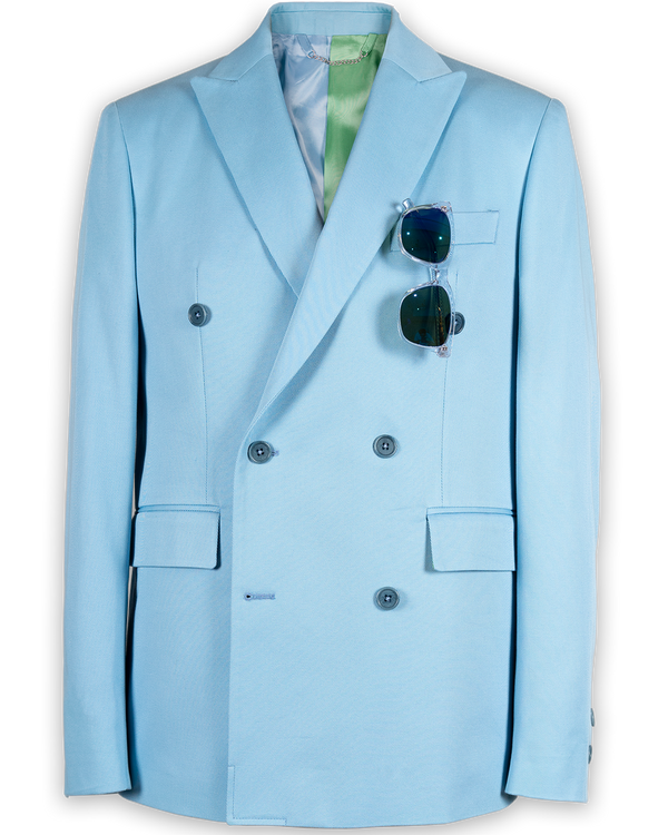 Miles Double-Breasted Eiffel 65 Blue Jacket (Sale)
