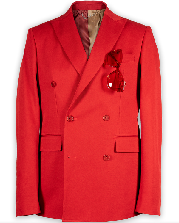 Miles Double-Breasted Fire Engine Jacket