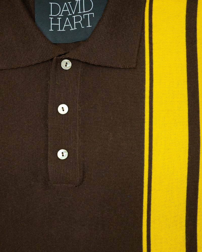 Brown Stripe Polo
