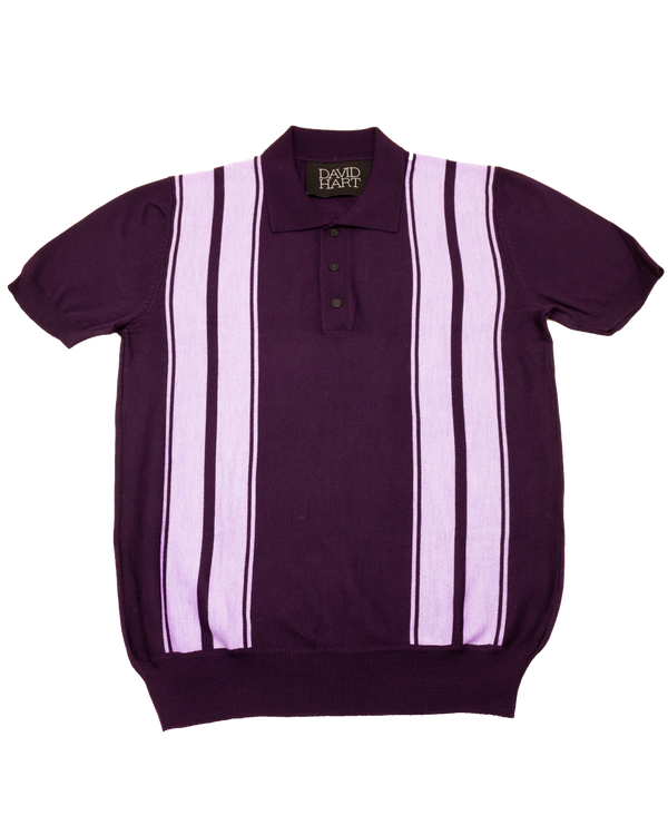 Purple Stripe Polo