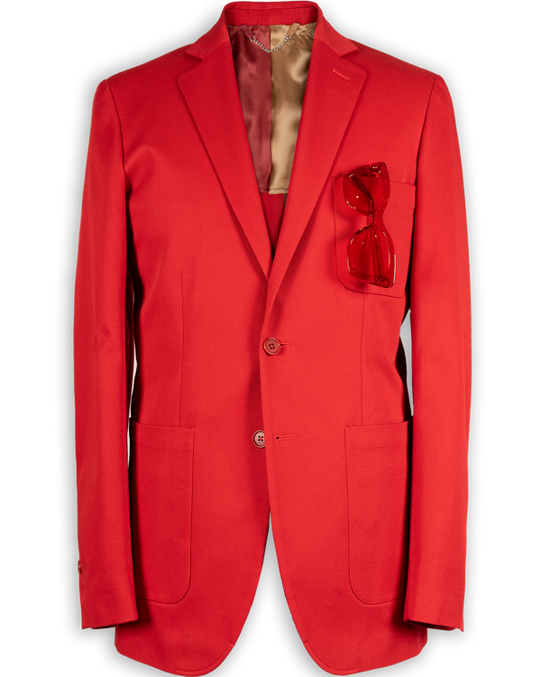 Robert Single-Breasted Fire Engine Jacket