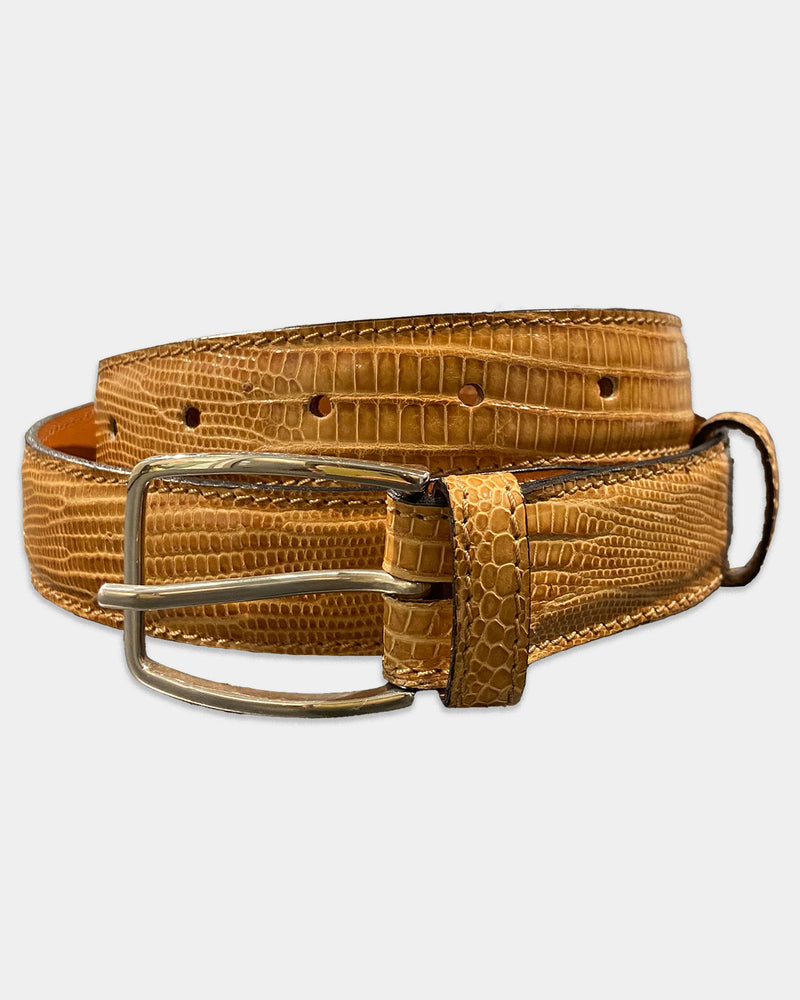 Bright sand coloured Lizard Belt strap