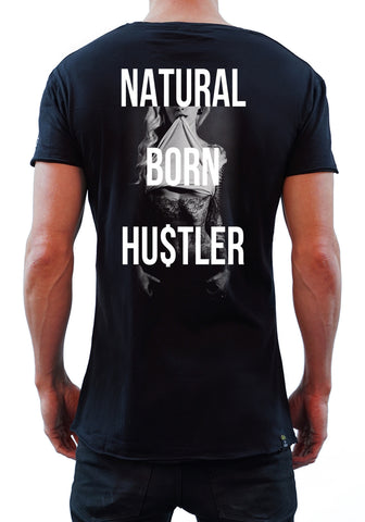 Natural Born Hustler Tee - Black - New