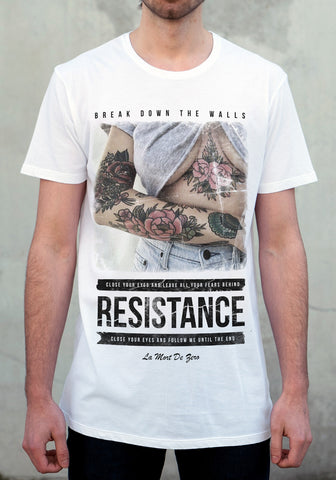 Resistance White Tee - New
