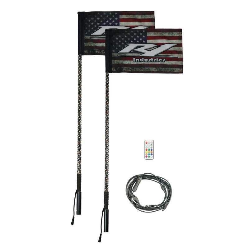 REMOTE 4 FOOT WILDCAT EXTREME LED LIGHT WHIPS (Gen 4 Pair)