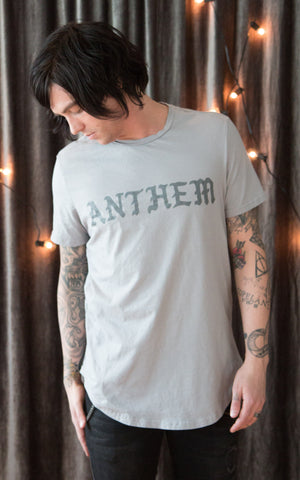 Anthem Scallop Tee - Grey
