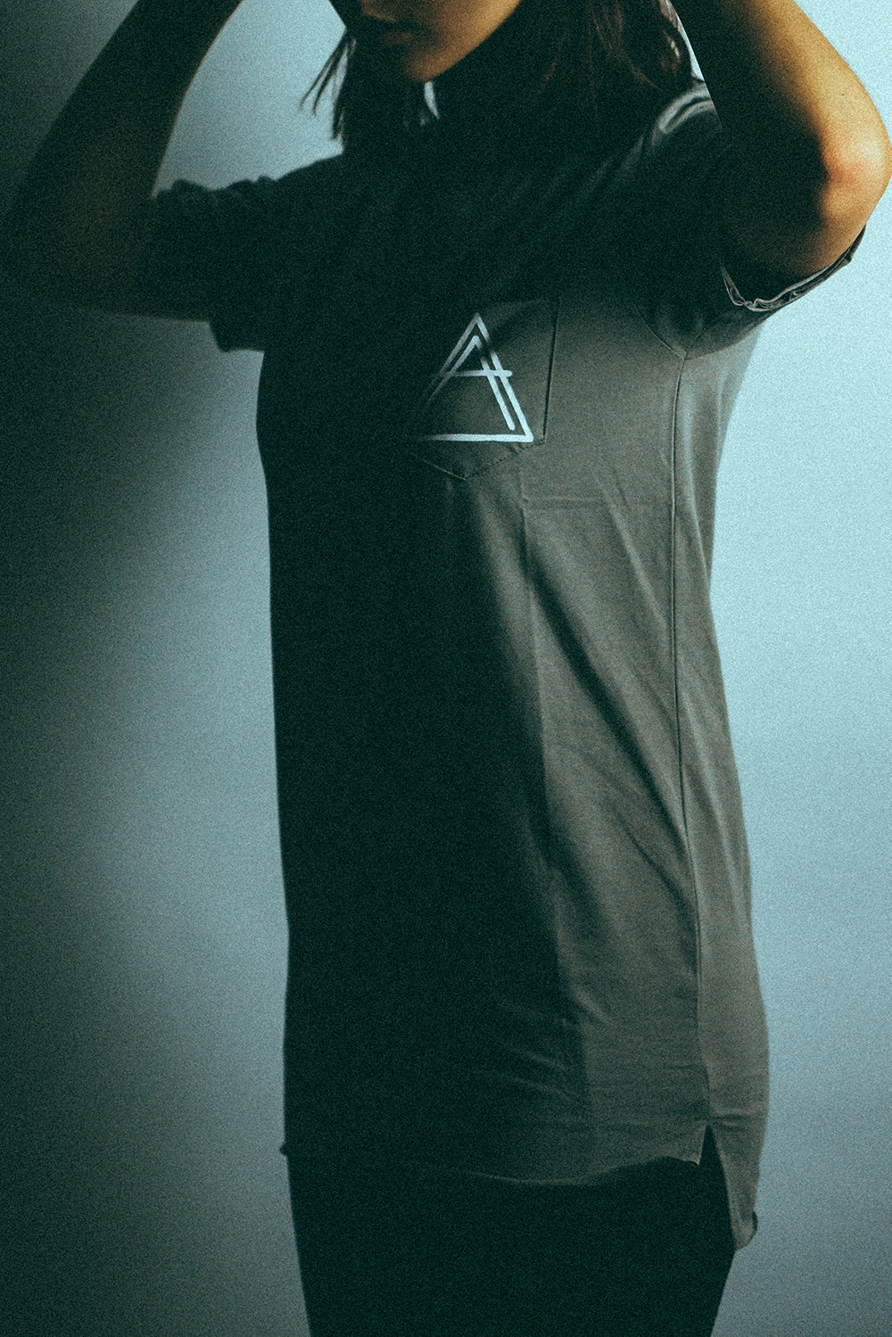 Anthem Logo Pocket Tee - Grey
