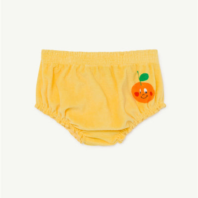 The Animals Observatory toads baby culotte shortsit, yellow fruit
