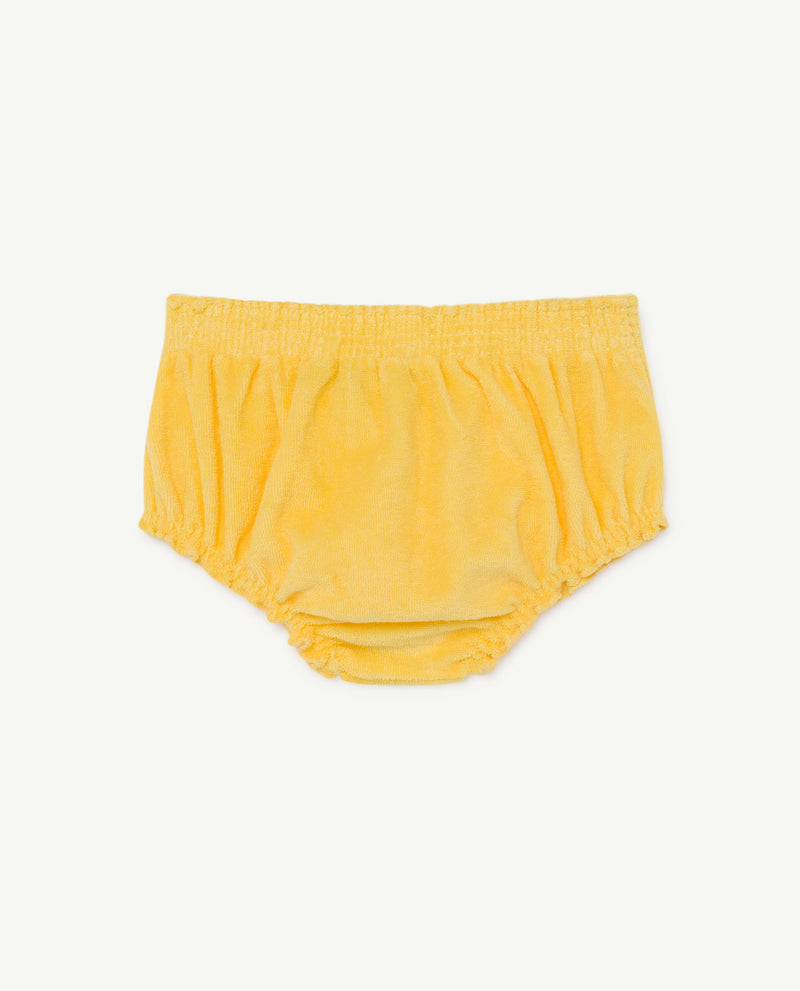 Animals Observatory toads baby culotte shortsit, yellow fruit