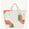 The Animals Observatory canvas totebag kassi, white geometric