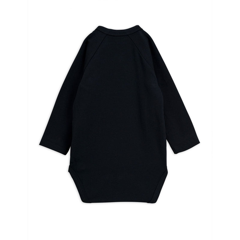Mini Rodini basic wrap body, black
