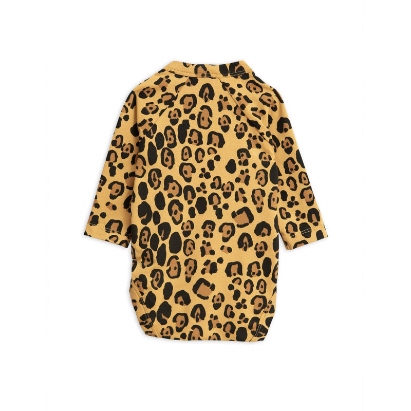 Mini Rodini basic leopard wrap body, beige