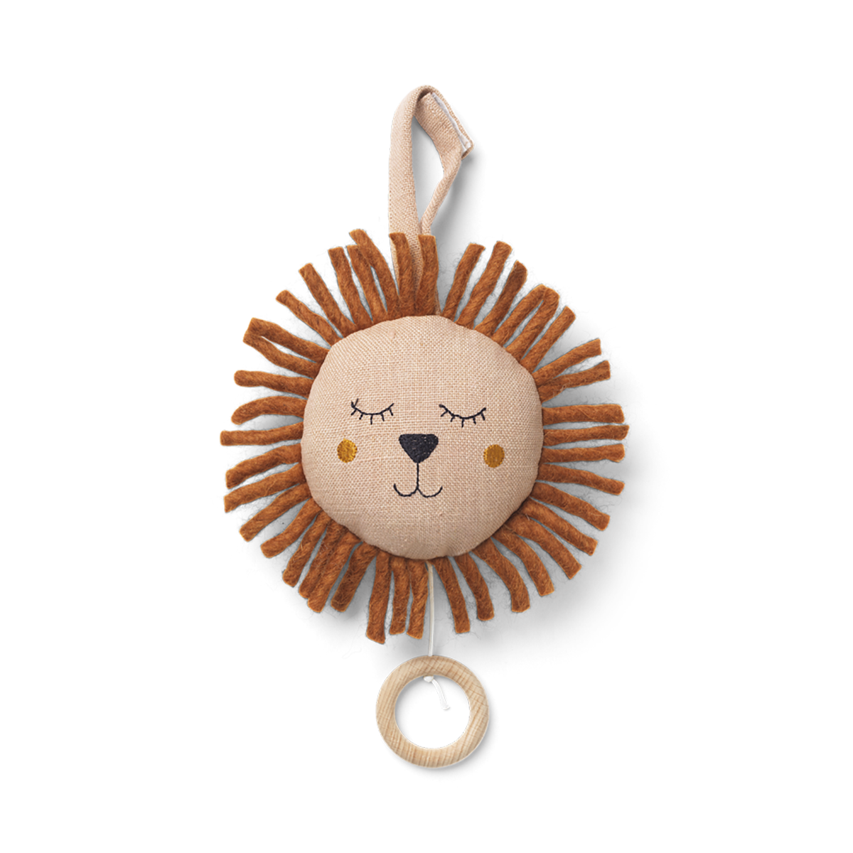 Ferm Living lion soittorasia, dusty rose